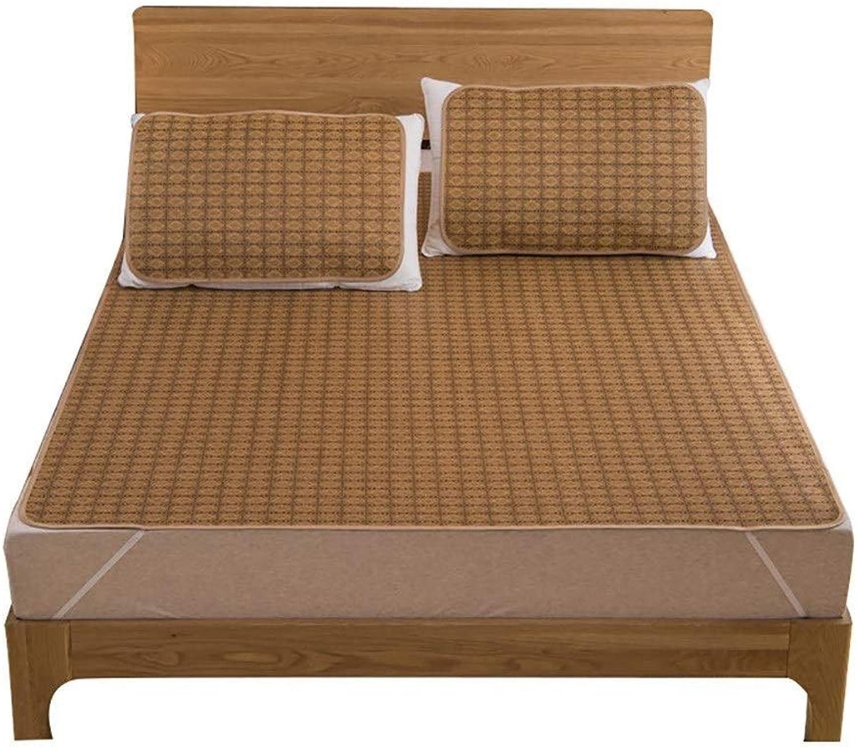 Bamboo Mat Bed Summer Cooling Sleeping Pad Rattan Mattress,Summer Bedding for (Size   1.8  2.15m)