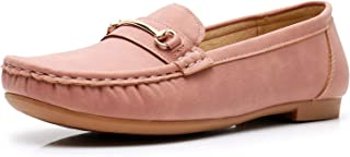 Apakowa Women's Ladies Slip On Walking Flat Loafer Shoes Driving Comfortable Flats