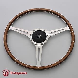 17'' Classic Riveted wooden steering wheel Restoration MG Triumph Jaguar Marine Boat