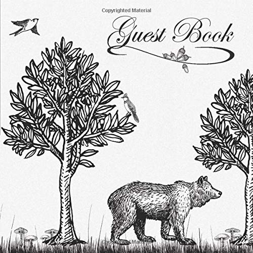 Guest Book: Sign In Log Book For Cabins, Vacation Rentals, AirBnB, Bed & Breakfast, Guest Home & More:  Nature Wildlife Theme