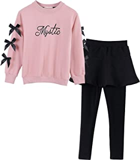 Ancia Fall Winter Little Girls Clothing Set Long Sleeve Top & Pants Outfits Clothes