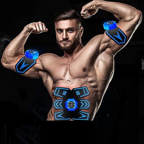 EMS Trainer pour Massage Abdomen Homme Femme, ABS electrostimulateur Musculaire EMS Ceinture Abdominale, EMS Musculaire Ceinture Abdominal Gym