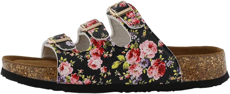 SoftMoc Women's Alexis 5 Flower Cork Footbed Slide Sandal