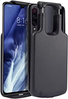 Battery Case Compatible with Xiaomi Mi 9 Pro, Yuqoka 5000mAh Portable Protective Charging Case Rechargeable Backup Extended Battery Juice Power Bank for Xiaomi Mi 9 Pro Black