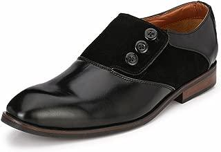 Lujo Handmade Button Shoes - Black
