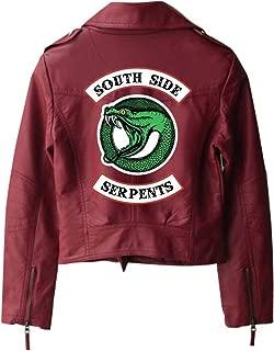 Riverdale PU Printed Logo Southside Serpents Women Streetwear Leather Jacket