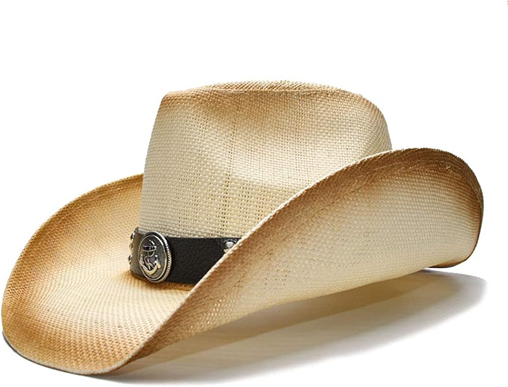 Women Men Straw Cowboy Hat With Alloy Max 62% Free Shipping New OFF For Dad symbol Lady Wester