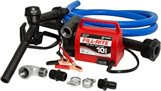 Fill-Rite FR1616 12V 10 GPM Portable Diesel Fuel Transfer Pump With Discharge Hose, Manual Nozzle, & Suction Pipe
