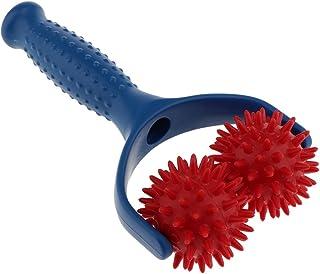 Sharplace Massage-roller met handvat triggerpoint massagebal roller massagebal met noppen blauw-rood