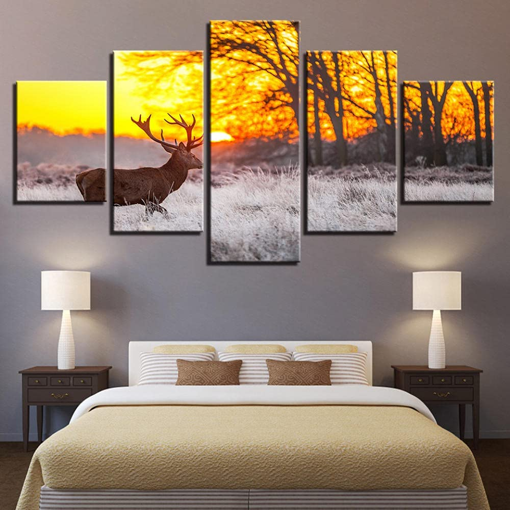 IMAX666 5 Piece Reservation Paintings for Wall Canvas Framed Mode Prints Art All stores are sold