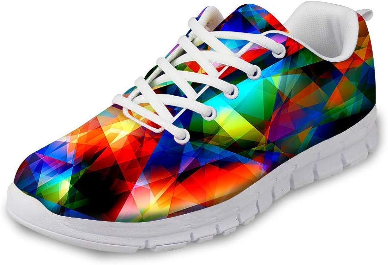 EnlaMorea Unisex Athletic Mesh Lightweight Breathable Sneaker Running Sport Gym shoes