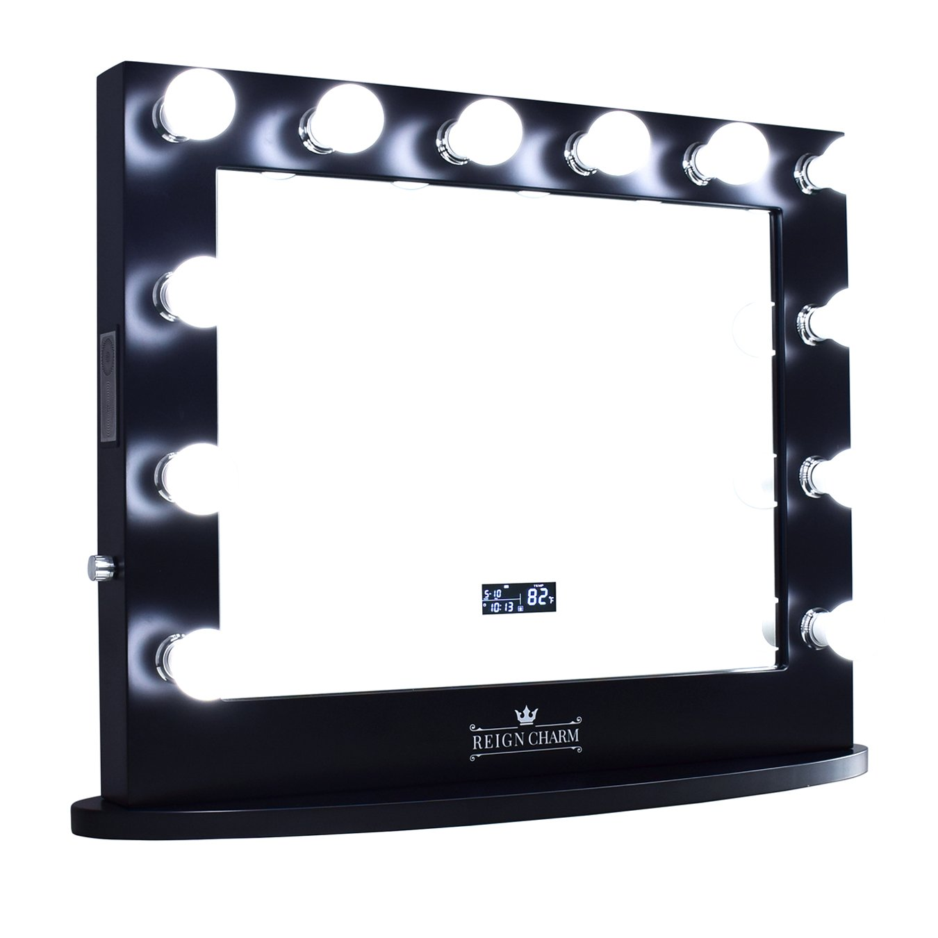 ReignCharm Hollywood Vanity Mirror with 12 オープニング 大放出セール L Speakers Bluetooth 大特価