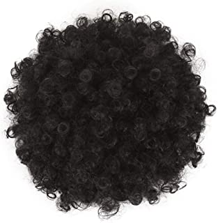 Deyngs Ponytail African American Short Afro Kinky Curly Wrap Synthetic Drawstring Puff Ponytail