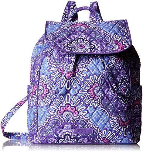 Vera Bradley Women's Signature Cotton Drawstring Backpack, Lilac Tapestry