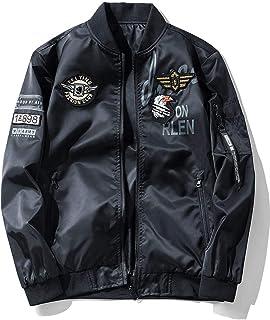 【BINGUO】メンズ ジャケット野球 ミリタリー ジャンパー フライトオートバイバッジ カジュアル トップス 防水 透湿 撥水 防風
