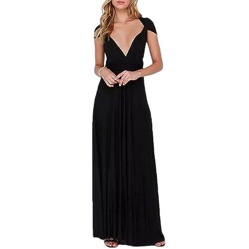 fa7fe0abdfc7 PERSUN Women's Convertible Multi Way Wrap Maxi Dress Long Semi Formal Party  Long Dresses