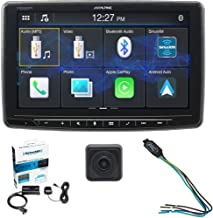 Alpine iLX-F259, Halo 9 Inch Single Din Mech-Less Digital Media Receiver w/Apple CarPlay/Android Auto Bundled w/PAC TR-1 Bypass/Mini Back-Up Camera and a SiriusXM Tuner SXV-300