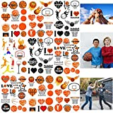 300PCS Basketball Motivational Tattoos Temporary for Kids - Basketball Baby Shower/Birthday Party Supplies Sports Party Goodie Bag Stuffers Favors Prize(24 Sheets)