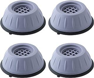 4Pcs Patins Anti Vibration Lave Linge Tapis Anti Vibration Machine a Laver Caoutchouc Antidérapant Pied à Suppression des ...