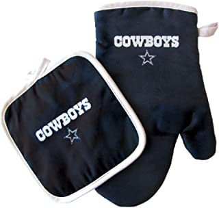 Pro Specialties Group Dallas Cowboys NFL Oven Mitt and Pot Holder Set