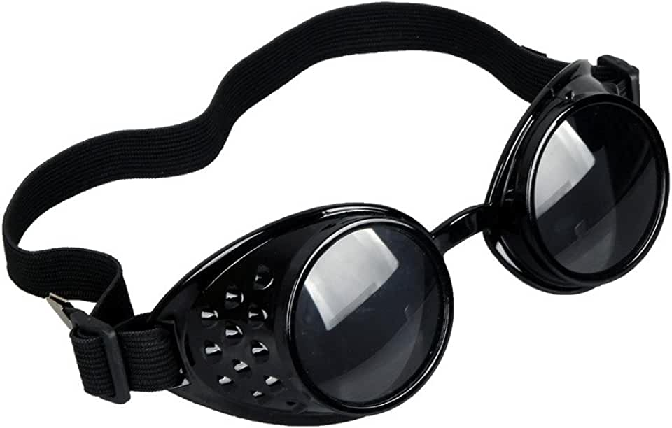 Retro Vintage STEAMPUNK GOGGLES&Glasses Goth Unchangeable Lens COSPLAY