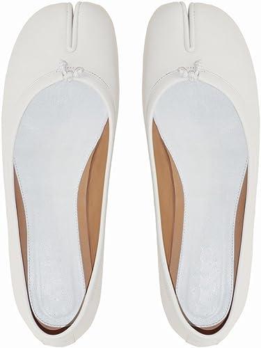 DHG Super Feu Split Split Split Toe Chaussures VraiHommest Peu Profondes Bouche Plate Chaussures de Fer à Cheval,Ré,35 a29