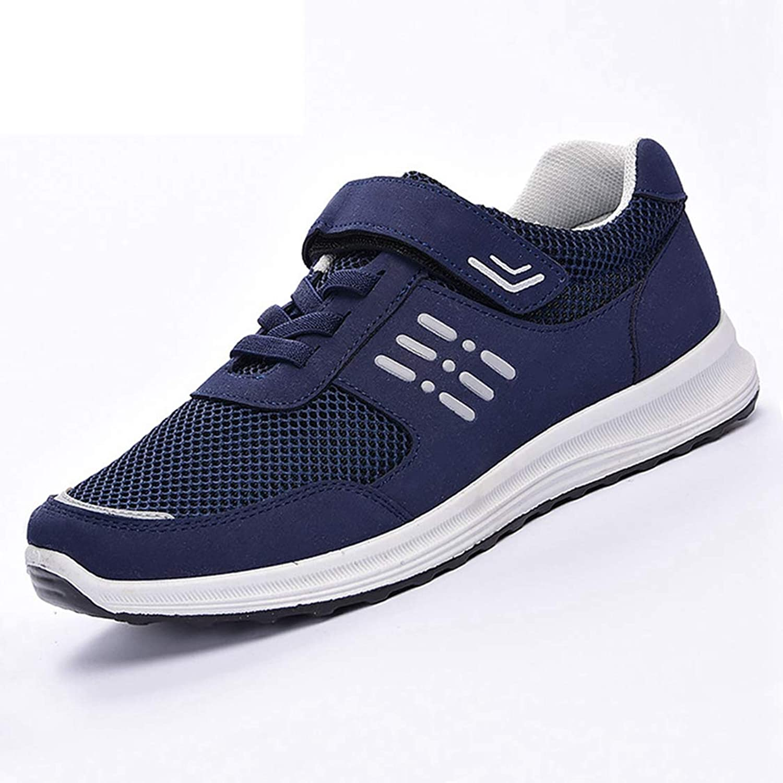DOSOMI Women Wedges Sneakers Vulcanize Hook & Loop Patchwork Mesh Breather Hard-Wearing Non-Slip Wedges Sneakers
