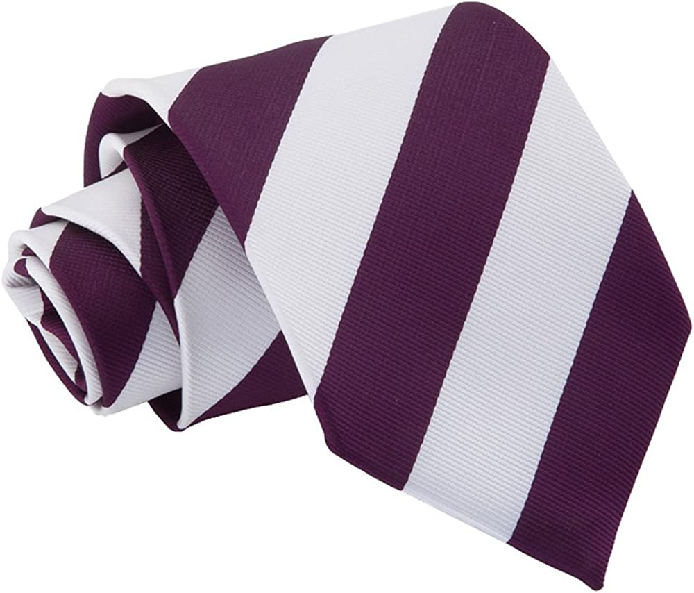 Woven Striped Purple White Men's Fashion Business Classic 3.75