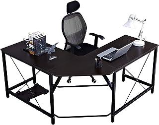 SDHYL Corner Desk Large Size L Shaped Desk Computer Desk Home Office Desk L Shaped, Black S7-WK-ZJ02-BK-US