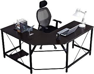 Soges Large 59 x 59 inches L-Shaped Computer Desk Corner Desk L Desk Office Workstation Desk, Black LD-Z01BK