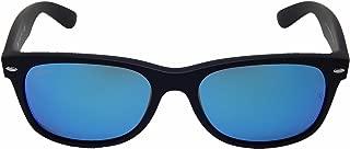 New Ray Ban RB2132 622/17 Matte Black/Blue Mirror 55mm Sunglasses