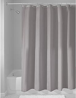 InterDesign Mildew Free Water Repellent Fabric Shower Curtain Long 72 Inch
