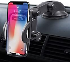Cell Phone Holder for Car Mount - BEYYON Dashboard Windshield Car Phone Mount with Sticky Suction & Easy One-Touch for iPhone 11 Pro Xs Max XR X 8, Samsug Galaxy S10+ S9 S8,Note 9, LG, Huawei, etc.