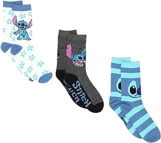 Lilo & Stitch Womens 3 pack Crew Socks (Teen/Adult)