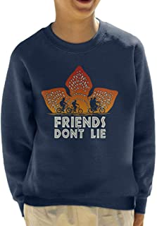 Cloud City 7 Demogorgon Sunset Friends Dont Lie Stranger Things Kid's Sweatshirt