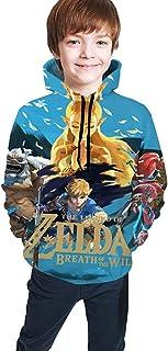 guoweiweiB Sudadera Juvenil con Capucha The Legend of Zelda Teen Hooded Sweatshirts Hoodies Pullover for Boys Girls