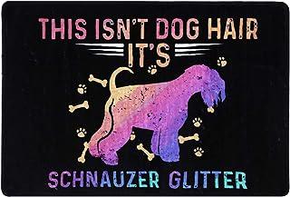 This isn't Dog Hair Funny Schnauzer Doormat Mat Flannel Rug for Front Entrance Indoor Bedroom - Non Slip Back Doormat for ...