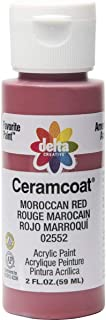 Delta Creative Ceramcoat Acrylic Paint in Assorted Colors (2 oz), 2552, Moroccan Red