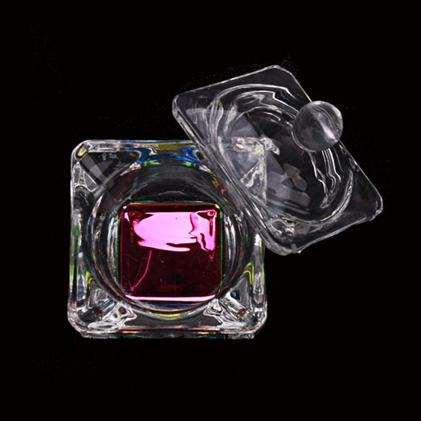 持ってる大いに周術期Honey Joy クリスタル レインボー カラー アクリル 液体 パウダー グラス ダッポン ディッシュ グラス カップ W キャップ 蓋 ボウル アクリル ネイル アート 透明 キット ナプ 019-スクエア用 HJ-NAPB003