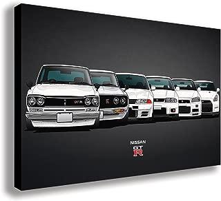 "NISSAN SKYLINE GT R EVOLUTION CANVAS WALL ART (30"" X 18"" / 75 X 45cm)"