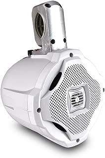 Two-way Marine Wakeboard Tower Speaker - 6.5 Inch 500 Watt Mid Range Audio Weatherproof Marine Grade Boat Sound System - Lanzar AQWB65W (White)