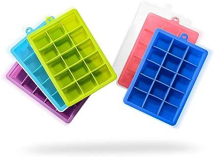 Square ice block mold of silica gel ice cube Purple