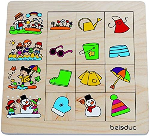 marca famosa Puzzles For For For Toddlers - Coordination and Motor Skills Development - Seasons Sorting Puzzle by Beleduc  Entrega directa y rápida de fábrica