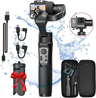 3-Axis Handheld Gimbal Stabilizer for GoPro, Splash Proof Pro Gimbal Tripod Stick with Motion for Gopro 2018 7/6/5/4, Sony RX0, SJCAM, YI-CAM - Time-Lapse, APP Control, 12h Run time, Auto Panorama