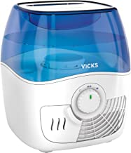 Vicks Filtered Cool Mist Humidifier, Medium Room, 1.1 Gallon Tank - Humidifier for Baby and Kids Rooms, Bedrooms and More,...