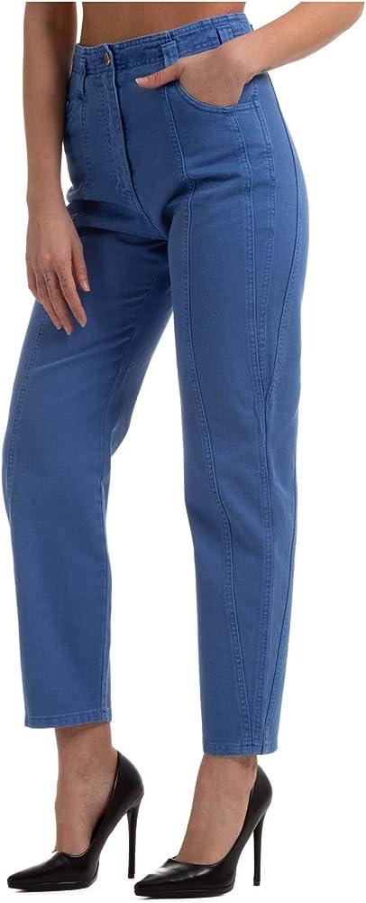 Alberta ferretti, pantalone da donna blu,in cotone al 100 % A031416790295