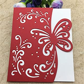 Metal Die Cuts Butterfly Greeting Card Cutting Dies for Card Making,Embossing Stencil for Scrapbooking DIY Album Paper Cards Art Craft Decoration,5.16x4.18 inches