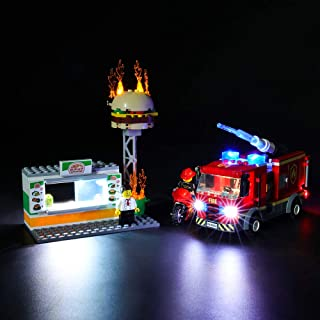 BRIKSMAX Led Lighting Kit for Burger Bar Fire Rescue - Compatible with Lego 60214 Building Blocks Model- Not Include The Lego Set