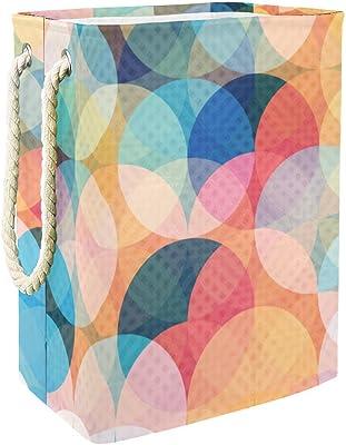 Inhomer Círculo de colores patrón 300D Oxford PVC impermeable ropa cesto grande para ropa ropa ropa ropa manta juguetes en el recámara