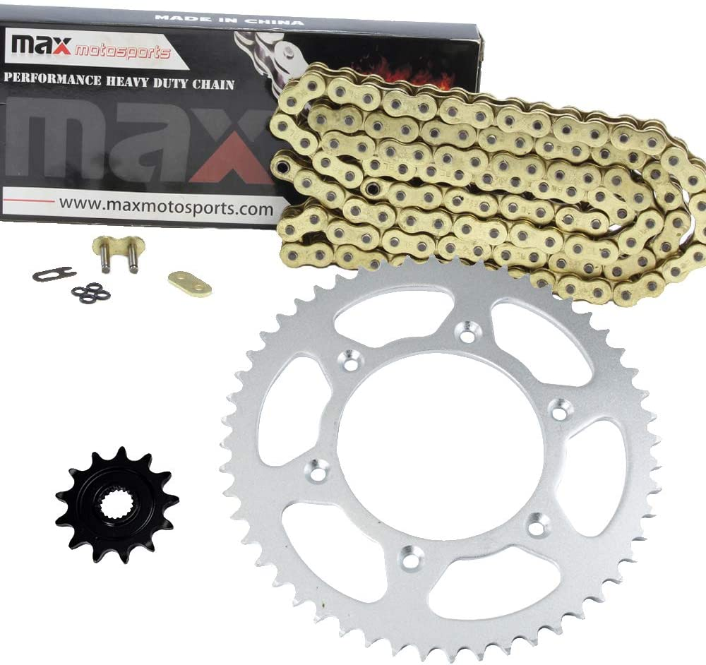Gold O-Ring Chain and Sprocket 5 ☆ popular Kit for 2001 CR125 2000 Long Beach Mall R 2 Honda